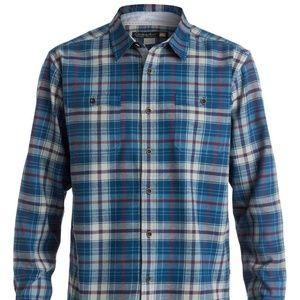 Quiksilver Men's Waterman RALEIGH Blue LS Shirt XL
